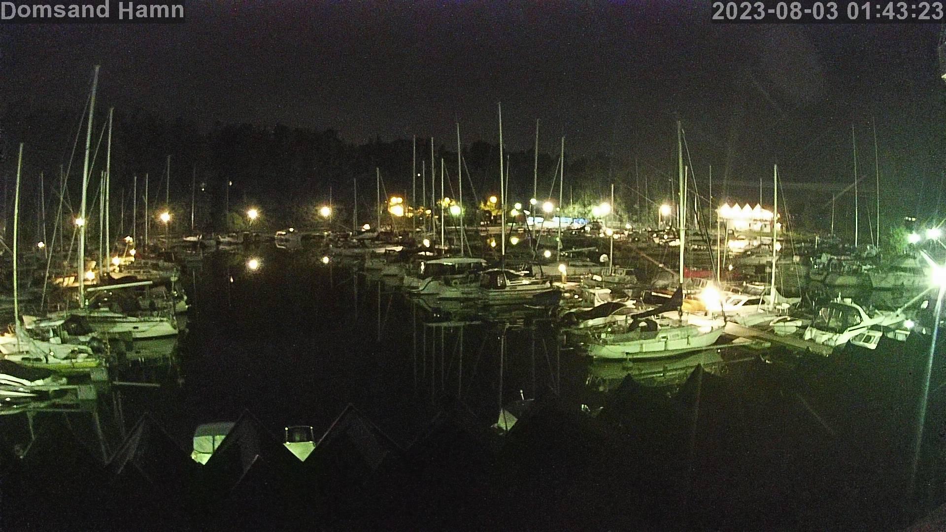 Domsands Båtsällskap -  livebild över hamnen